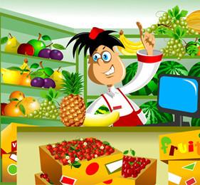 托班科学教案《认识水果》 认识一些秋天的水果苹果和猕猴桃