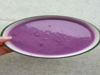 紫薯大米牛奶宝宝辅食制作方法 适合宝宝的紫薯大米牛奶粥